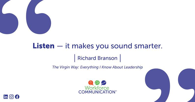 Listen – it makes you sound smarter | Richard Branson